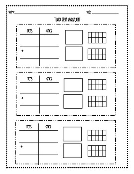Two Digit Addition Place Value