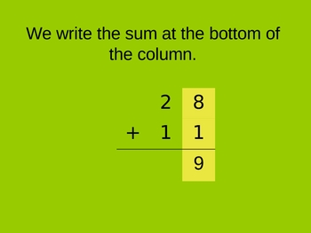 Two Digit Addition Powerpoint