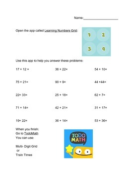 Two Digit Addition Practice