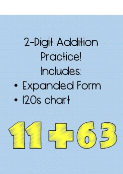 Two Digit Addition Practice Sheets (No Regrouping)