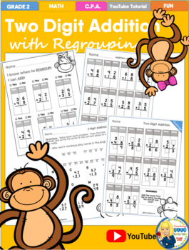 Two-Digit Addition Tutorial Worksheets