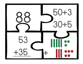 Two Digit Addition Puzzles without regrouping