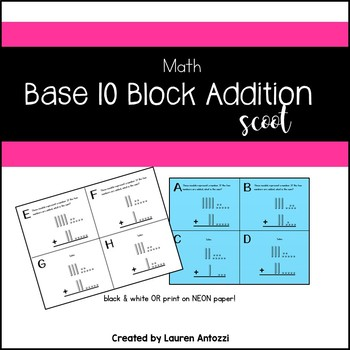Double Digit Addition Regroup Base 10 Blocks