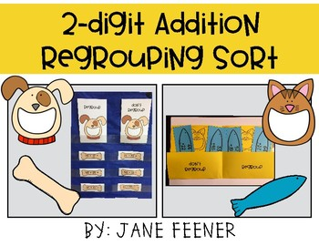 Two Digit Addition Regrouping Sort Activity