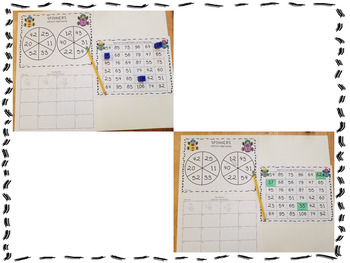 Two Digit Addition Spinner Game