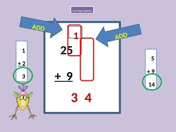 Two-Digit Addition Step by Step with Student Worksheet
