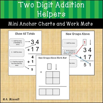 Two Digit Addition Helpers - No Prep!