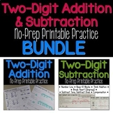 Two-Digit Addition & Subtraction No-Prep Printables BUNDLE