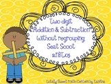 Two Digit Addition & Subtraction Without Regrouping Seat Scoot 2.NBT.5