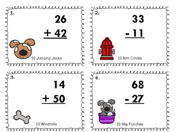 Two Digit Addition & Subtraction without Regrouping Task Cards