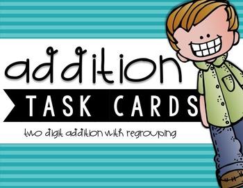 Two-Digit Addition Task Cards {BUNDLE}