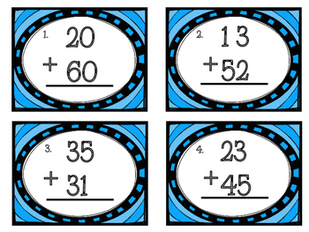 Two Digit Addition Task Cards - No regrouping