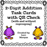 Two-Digit Addition Task Cards with QR Check