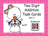 Two-Digit Addition Task Cards with Self Checking QR Code – WINTER Version SET 2