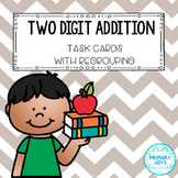 Two Digit Addition Task Cards - with regrouping