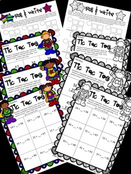 Two Digit Addition and Subtraction BUNDLE