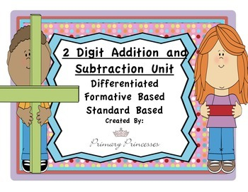 Two Digit Add and Subtract Unit Differentiated/Formative Based Inst. CCSS