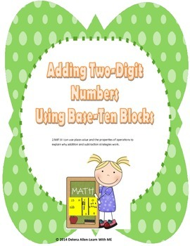 Two-Digit Addition Using Base Ten Blocks