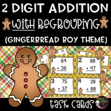 2-Digit Addition WITH regrouping (Gingerbread boy theme)