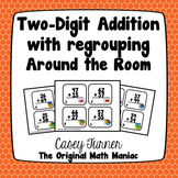 Two Digit Addition With Regrouping Around the Room