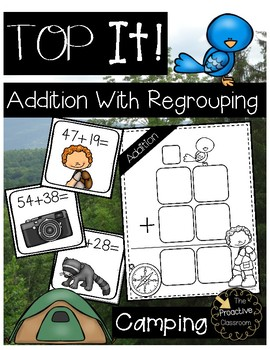 Two Digit Addition With Regrouping Camping Top It