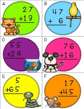 Two Digit Addition With Regrouping Scoot
