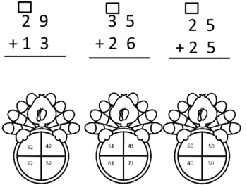 Two Digit Addition With Regrouping Turkey Theme