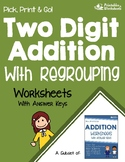 Adding 2 Digit Numbers With Regrouping Worksheet, Addition Speed Drill /Practice