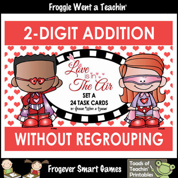 """Two-Digit Addition Without Regrouping -- """"Love is in The Air"""""""