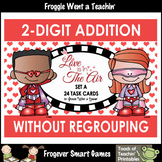 """2-Digit Addition No Regrouping -- """"Love is in The Air"""""""