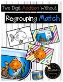 Double Digit Addition Without Regrouping Match Cards - Fish / Pet Theme Math