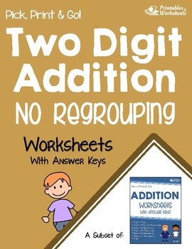 Adding 2 Digit Numbers Without Regrouping Worksheets, Addition Sprint Sheets