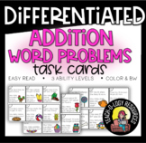 Two Digit Addition : Word Problem Cards - Differentiated