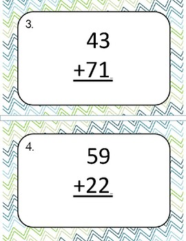 Two Digit Addition Write the Room