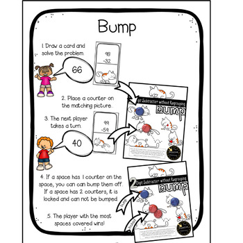 Double Digit Addition and Subtraction With and Without Regrouping Bump Bundle