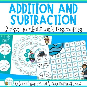Two Digit Addition and Subtraction Games