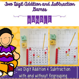 Two-Digit Addition and Subtraction Games Bundle