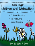Two Digit Addition and Subtraction - No regrouping