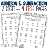 Two Digit Addition and Subtraction Practice