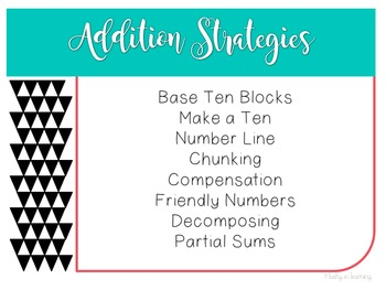 Two Digit Addition and Subtraction Strategies Pack