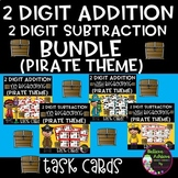 Two-Digit Addition and Subtraction Task Cards Bundle (Pira