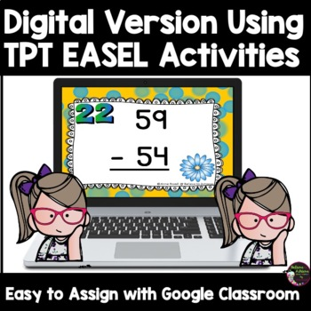 Two-Digit Addition and Subtraction Task Cards Bundle (Spring theme)