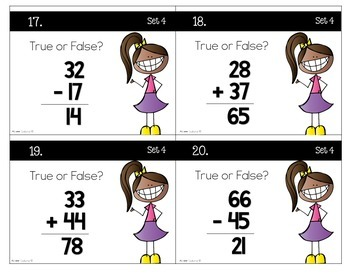 Two-Digit Addition and Subtraction Task Cards