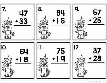 Two Digit Addition and Subtraction Unit