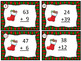 Two Digit Addition and Subtraction With Renaming Christmas Stocking Task Cards