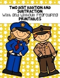 Two Digit Addition and Subtraction With and Without Regrouping Printables
