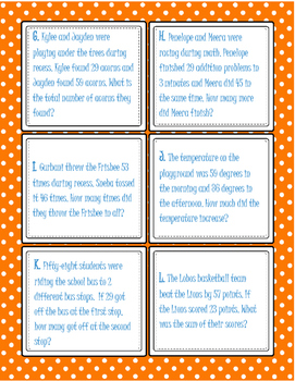 Two Digit Addition and Subtraction Word Problems