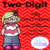 Two-Digit Addition and Subtraction Word Problems (Interactive Notebooks)
