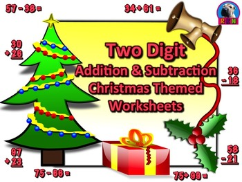 Two Digit Addition and Subtraction Worksheet Bundle - Chri
