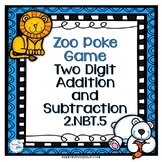 Spring Activities Addition and Subtraction Poke Game Zoo Animals